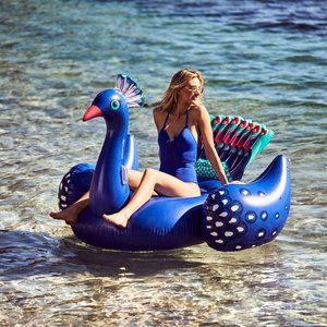Giant Inflatable Peacock Pool Float Party Raft New